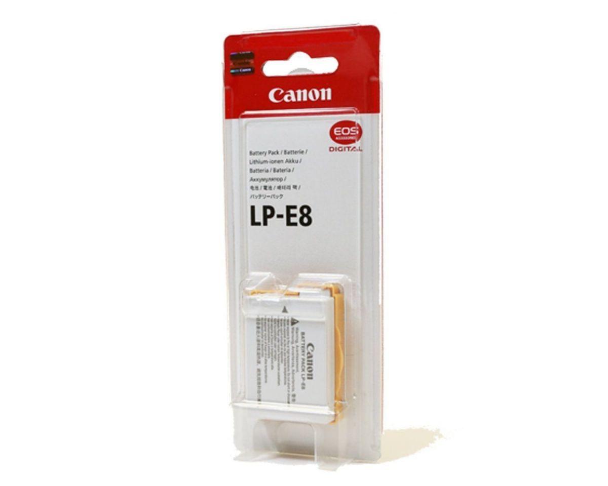 Аккумулятор Canon LP-E8 для 550D, 600D, 650D, 700D, Kiss X4, Kiss X5, Kiss X6, Rebel T2i, Rebel T3i, Rebel T4i, Rebel T5i
