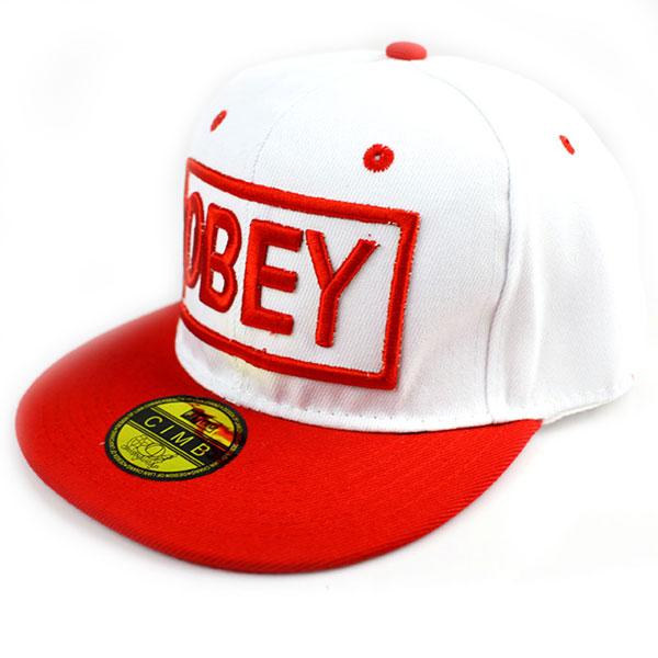 Кепка Obey (красно-белая)