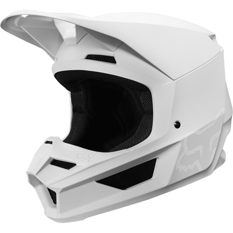 Fox - 2019 V1 Matte White шлем, белый матовый