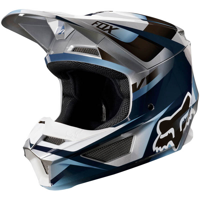 Fox - 2019 V1 Motif Blue/Grey шлем, сине-серый