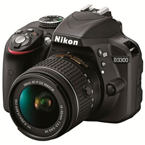 Nikon D3300 AF-P 18-55mm VR Kit Black