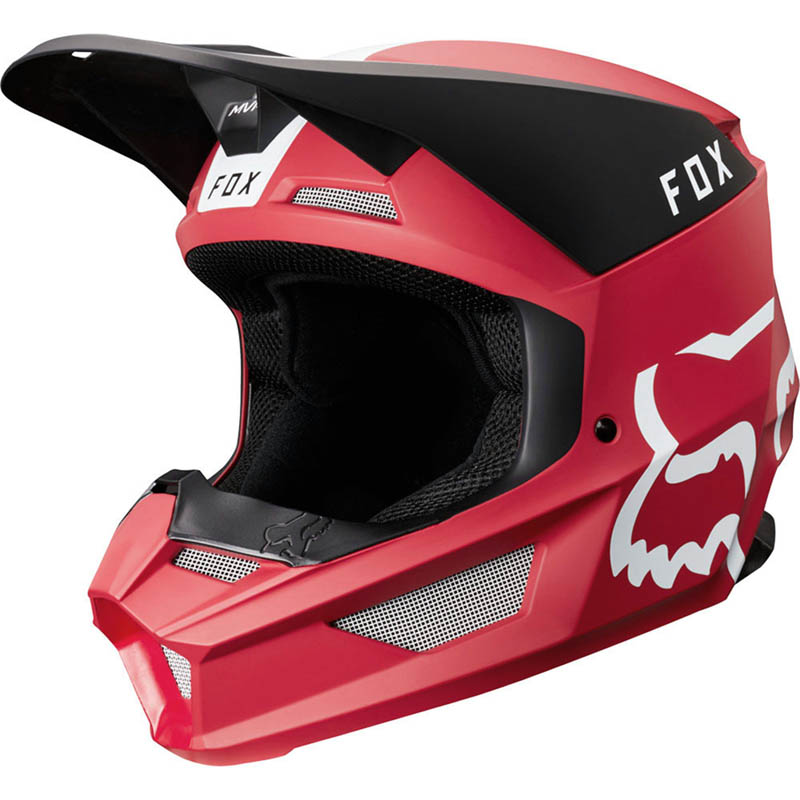 Fox V1 Mata Cardinal шлем, красный матовый