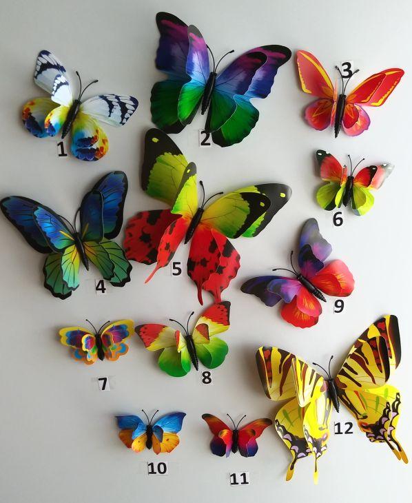 3D бабочка на магните - 3