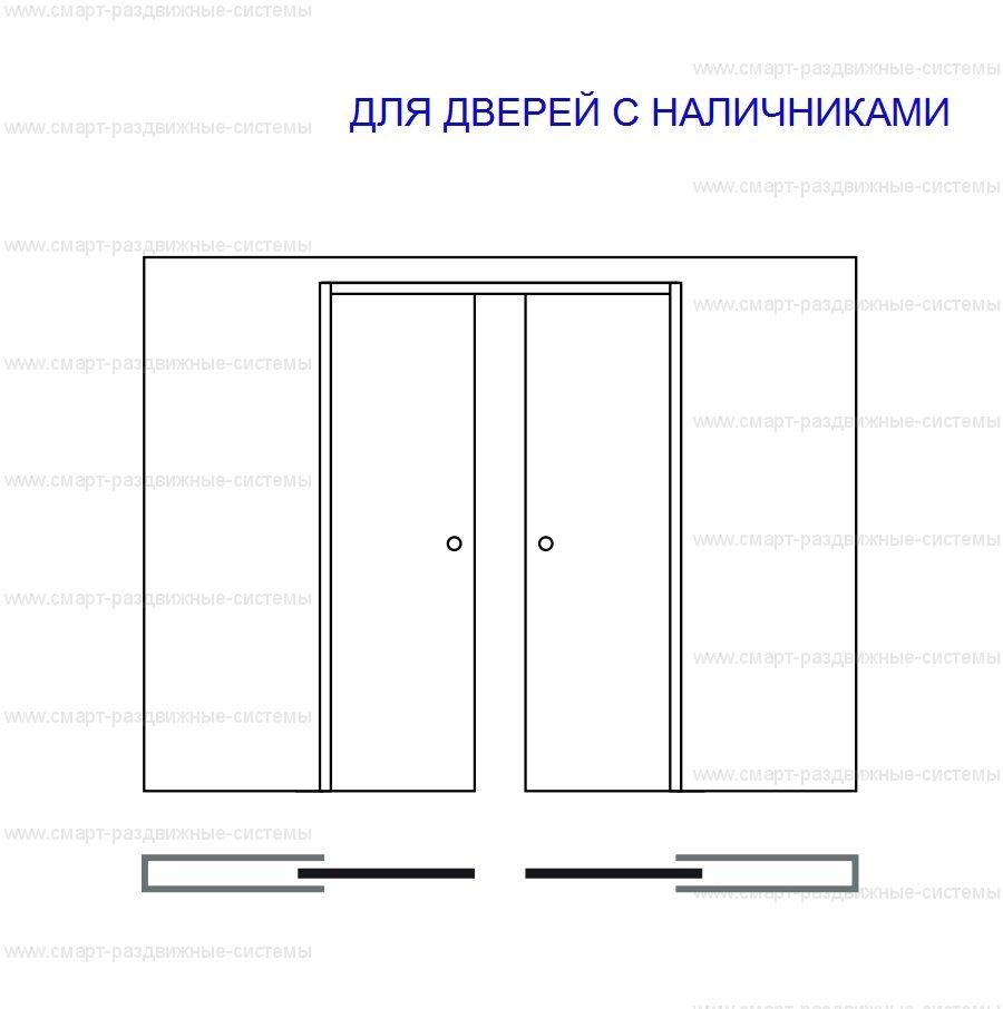 Пенал Eclisse Unico Double для раздвижной двери (полотно высотой 2000 и 2100 мм)
