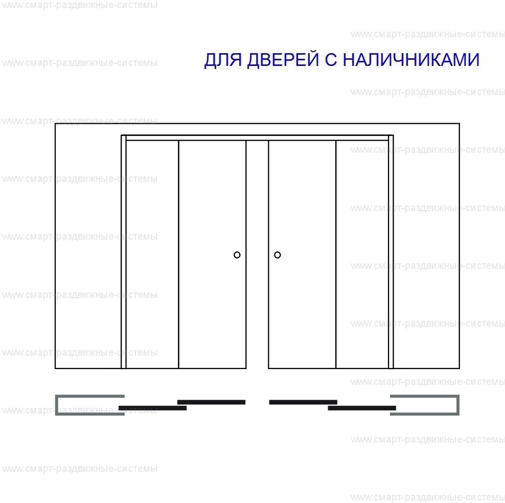 Пенал Eclisse Double Telescopic для полотен высотой 2000 и 2100 мм