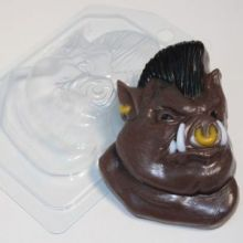 форма пластиковая Кабан с ирокезом