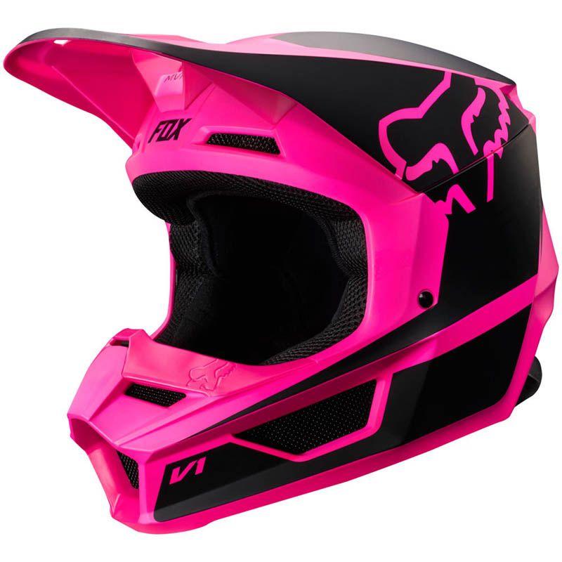 Fox - 2019 V1 Przm Black/Pink шлем, черно-розовый