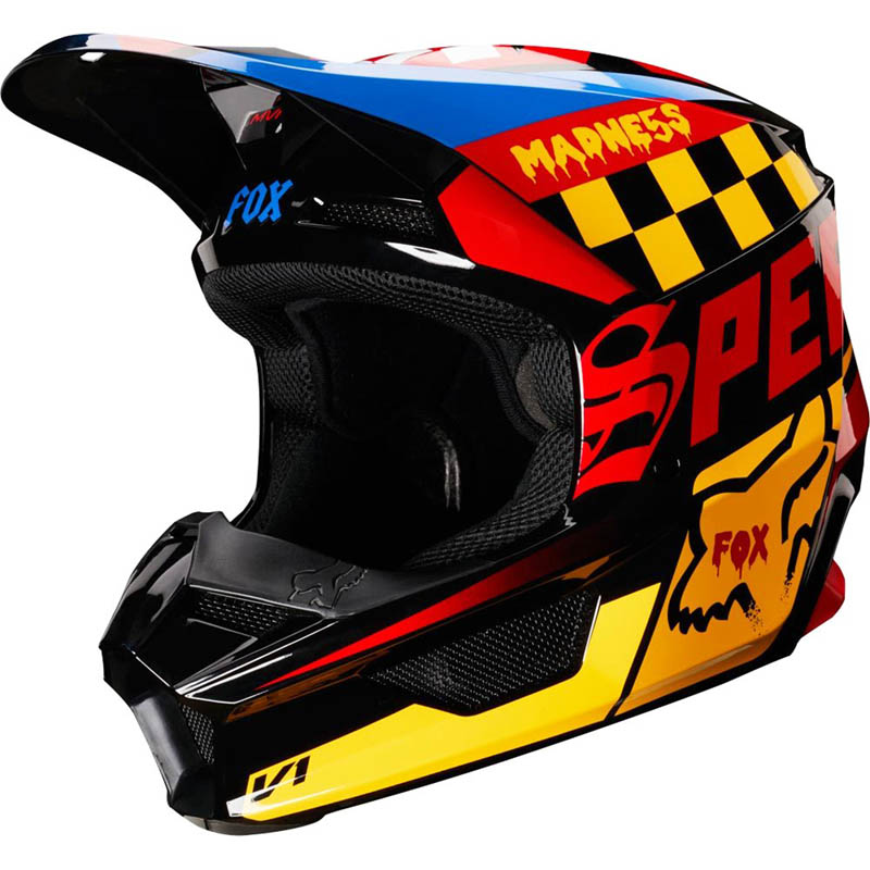 Fox - 2019 V1 Czar Black/Yellow шлем, черно-желтый