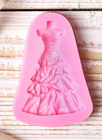 """Молд """"Бальное платье"""", цвет розовый"""