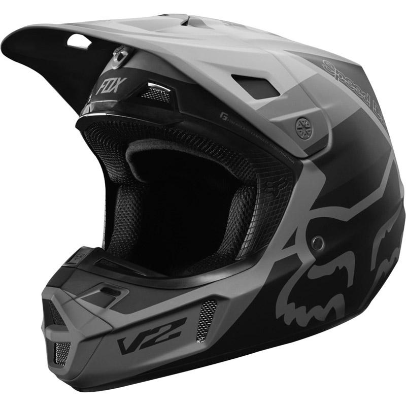 Fox - 2019 V2 Murc Black шлем, серо-черный матовый