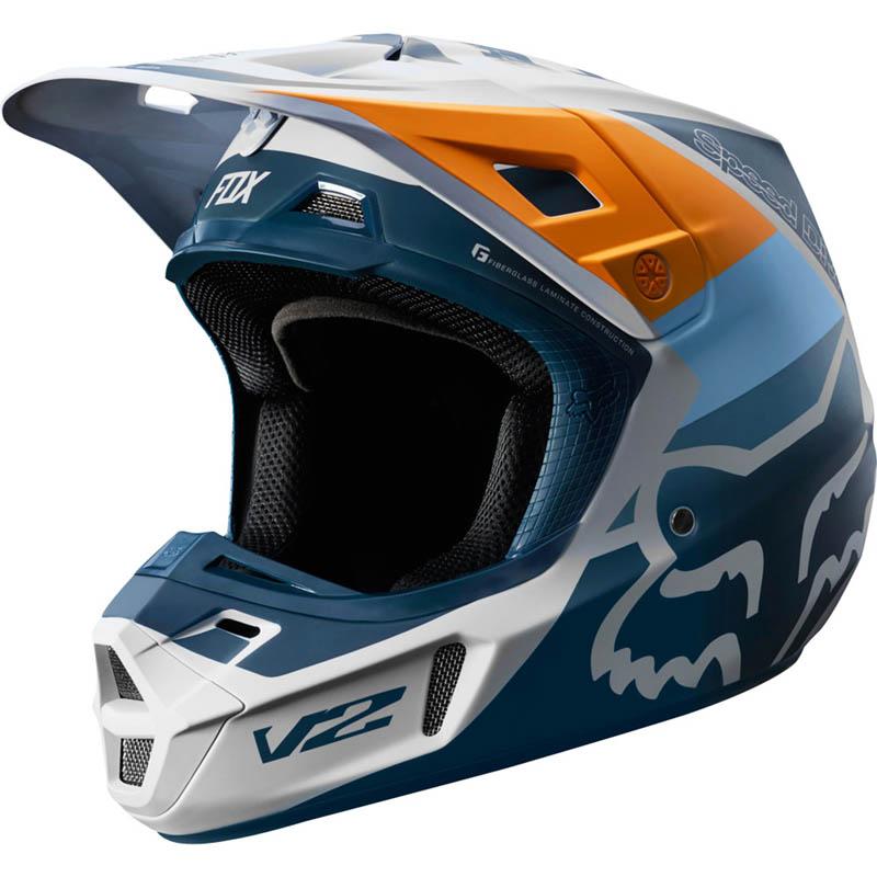 Fox - 2019 V2 Murc Lt Grey шлем, светло-серый матовый