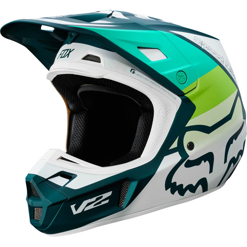 Fox - 2019 V2 Murc Green шлем, зеленый матовый