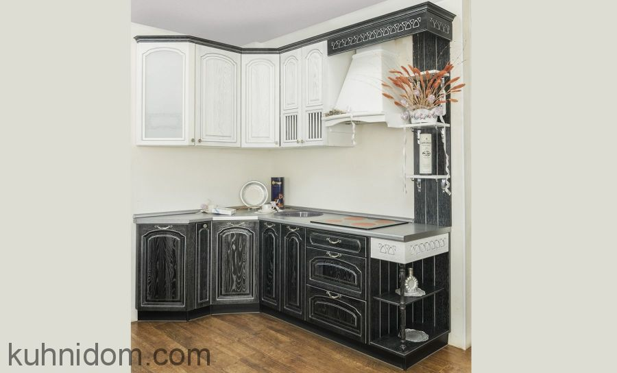 Кухня Корри Черно-Белая