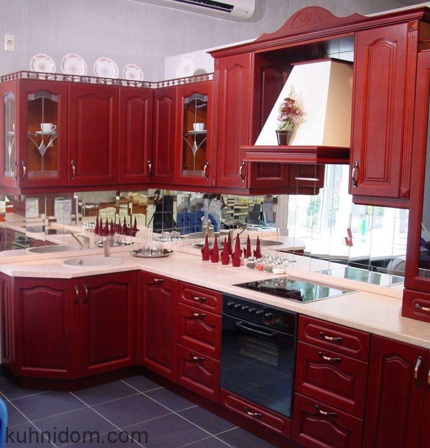 Кухня Стефания Красная