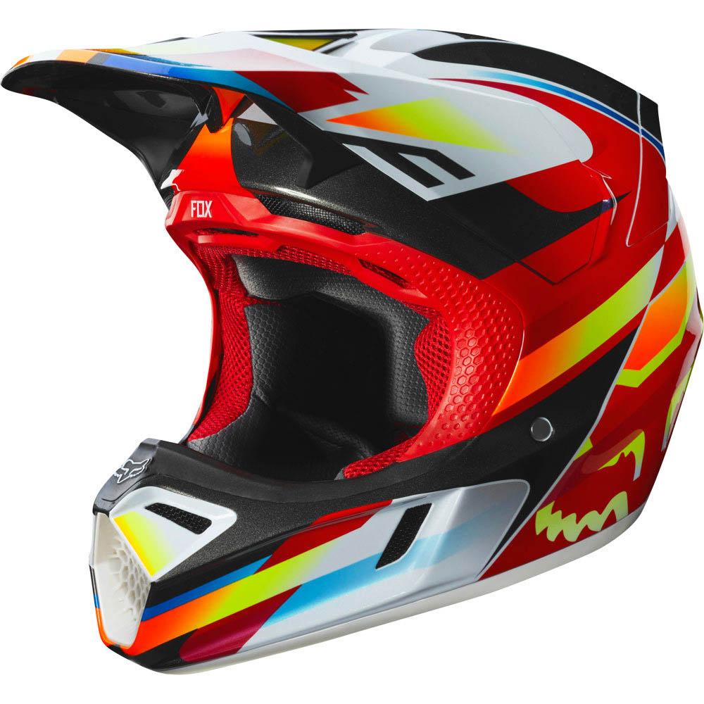Fox - 2019 V3 Motif Red/Yellow шлем, красно-желтый