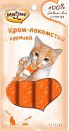 Мнямс Крем-лакомство для кошек с курицей (4*15 г)