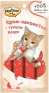 Мнямс Крем-лакомство для кошек с тунцом кацуо (4*15 г)