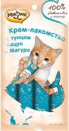Мнямс Крем-лакомство для кошек с тунцом кацуо и магуро (4*15 г)