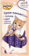 Мнямс Крем-лакомство для кошек с тунцом кацуо и морским гребешком (4*15 г)