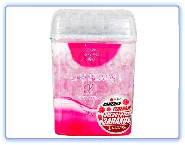 Nagara Aqua Beads Арома-поглотитель запаха гелевый Камелия
