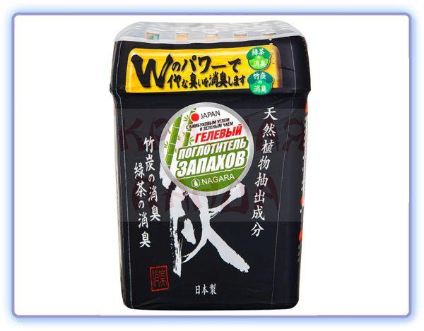 Nagara Поглотитель запаха гелевый с бамбуковым углем и зеленым чаем