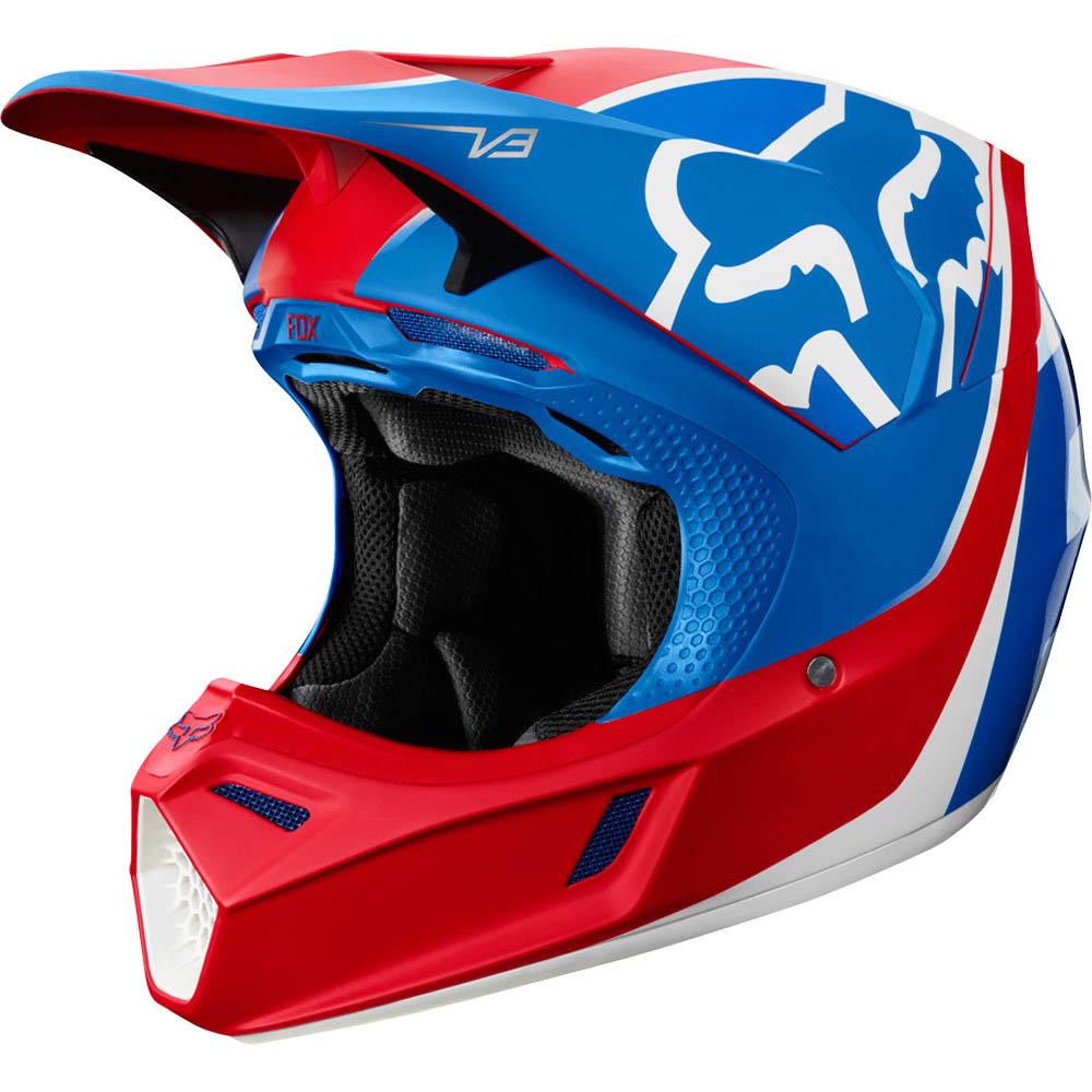 Fox V3 Kila Blue/Red шлем, сине-красный