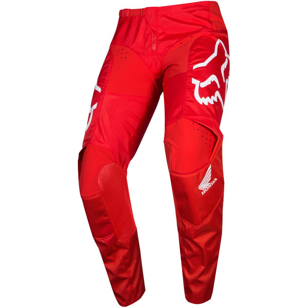 Fox 180 Honda Red штаны, красные