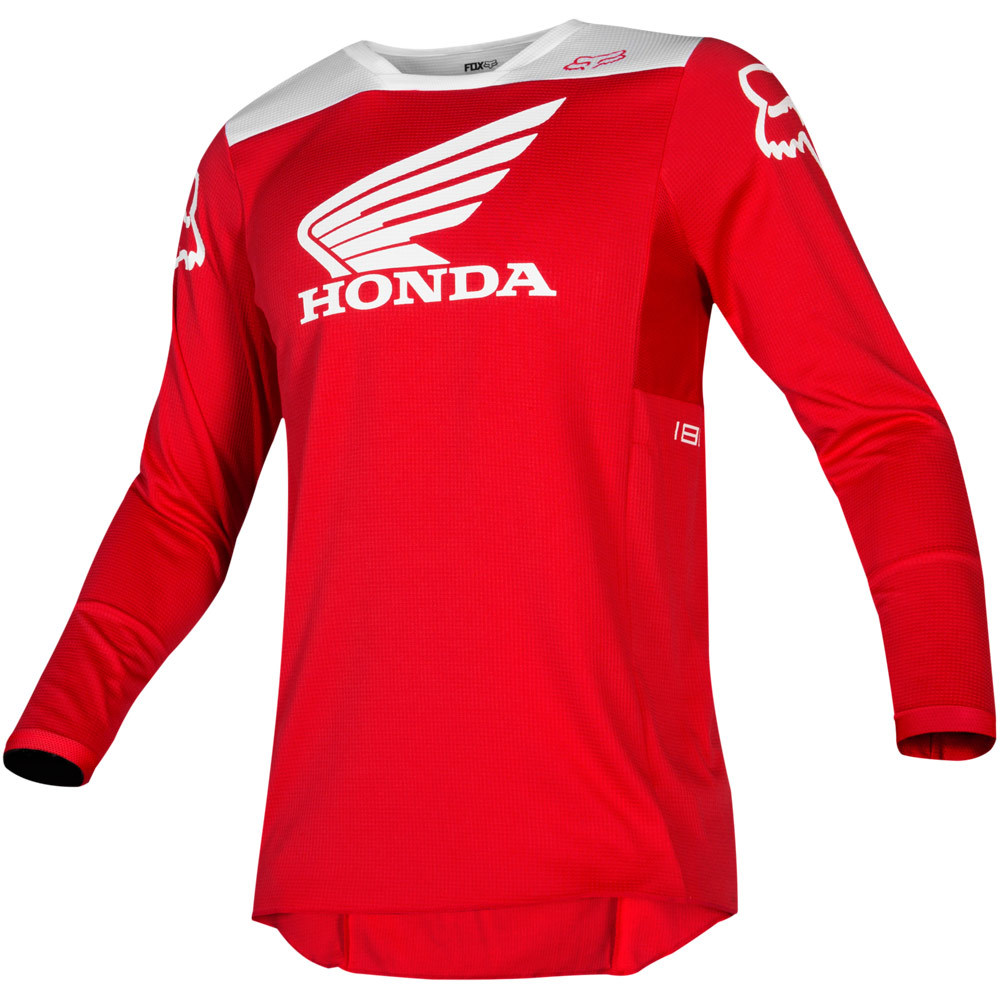 Fox 180 Honda Red джерси, красное