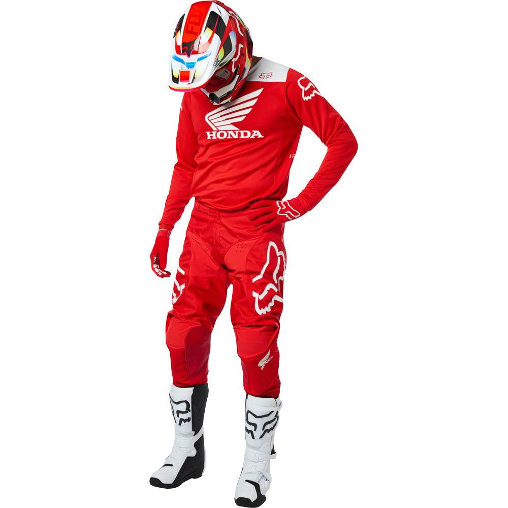 Fox - 2019 180 Honda Red комплект джерси и штаны, красный