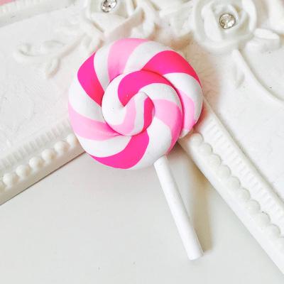 Леденец на палочке,  розовый