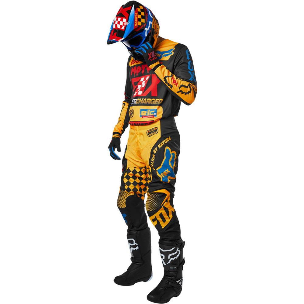 Fox - 2019 180 Czar Black/Yellow комплект джерси и штаны, черно-желтые