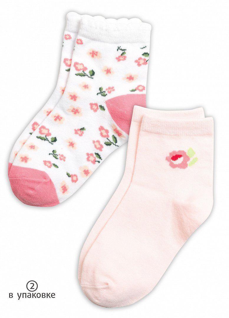 Носки для девочек 2 пары на размер 16-18