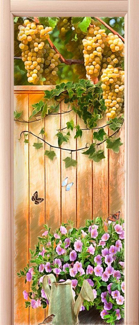Наклейка на дверь - Грани лета