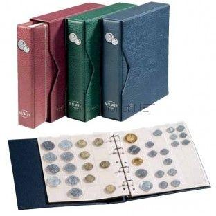 """Альбом для монет серии """"NUMIS"""" с 5 листами и кассетой  (зеленый)"""