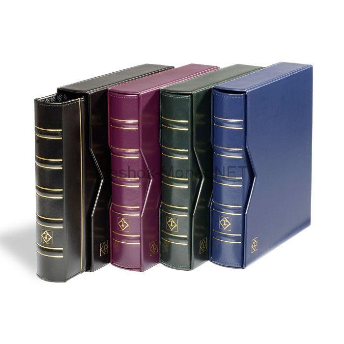"""Альбом для монет серии """"OPTIMA"""" """"Classic"""" с 10 листами и защитной кассетой (шубером), синий"""