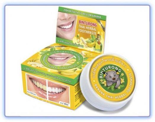 Banana thai herbal toothpaste Круглая зубная паста со вкусом банана