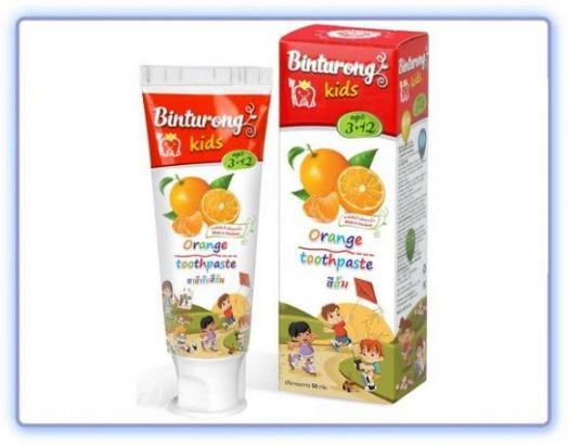 Детская зубная паста BINTURONG ORANGE с ароматом апельсина