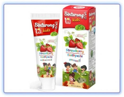 Детская зубная паста BINTURONG STRAWBERRY с ароматом клубники