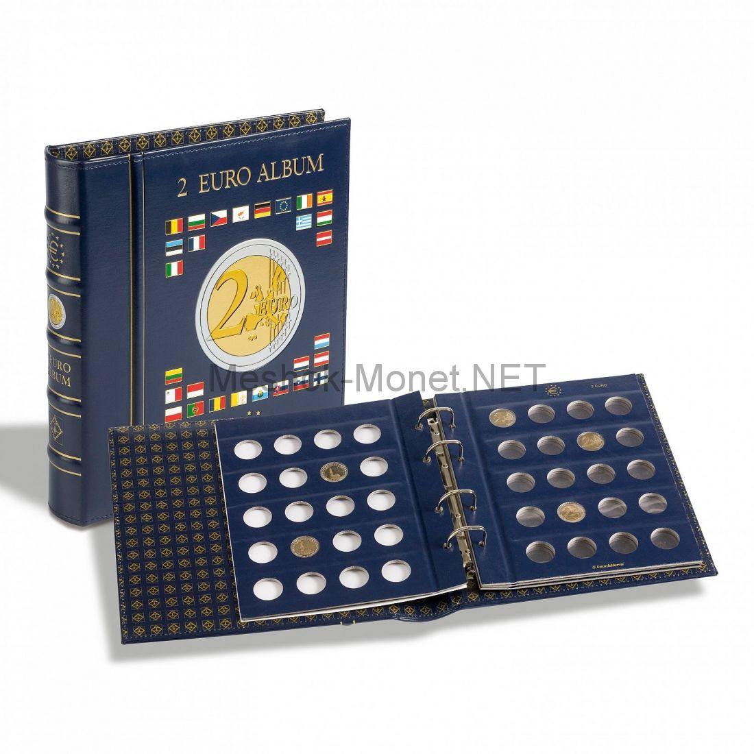 """Альбом серии """"VISTA"""" для монет 2 евро с кассетой (шубером)"""