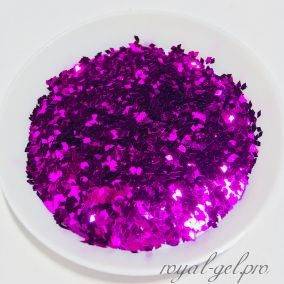 Конфетти ромб 1mm Diamond B0800((Violet Rose)
