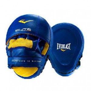 Лапа боксерская Everlast Pro Elite Leather Mantis син.,  артикул P00000700 BL