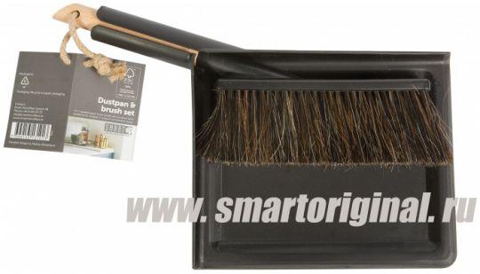 Smart Microfiber Щётка + совок чёрные Natur