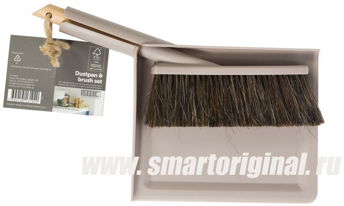 Smart Microfiber Щётка + совок серые Natur