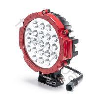 Круглая светодиодная фара дальнего света (красная)