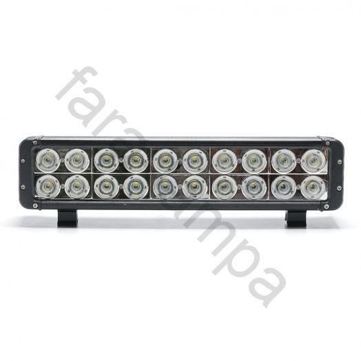 Двухрядная светодиодная балка 200 ватт Дальний свет (длинна 440 мм)