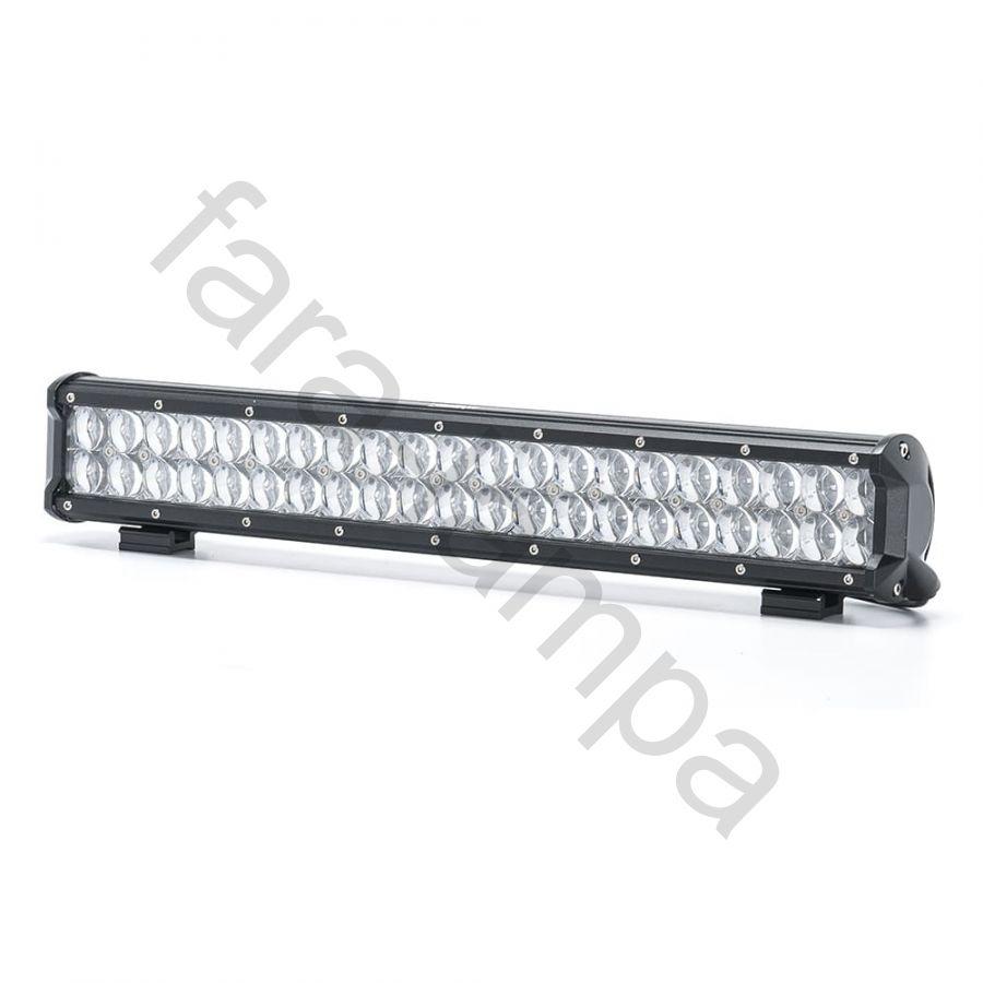 Светодиодная балка двухрядная линзы 5D Дальний свет 126 ватт