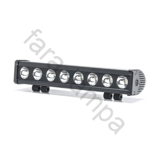 Однорядная светодиодная балка 80 Ватт Дальний свет (длина 380 мм)