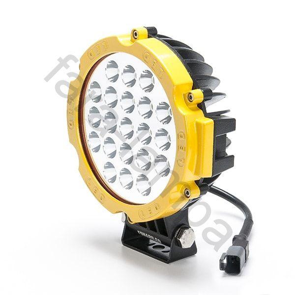 Круглая светодиодная фара дальнего света (желтая)