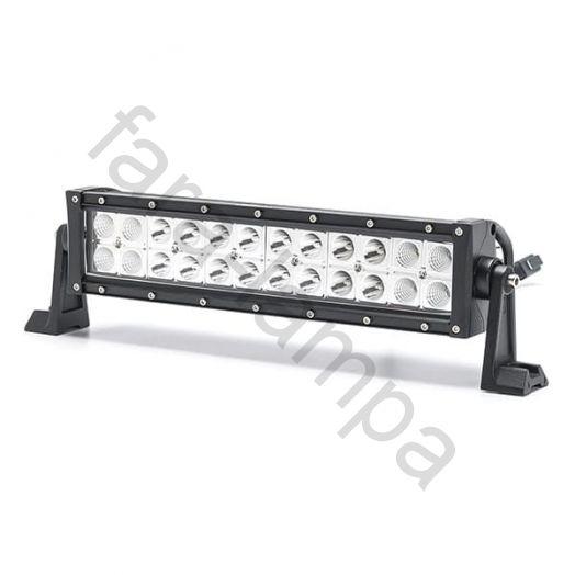 Двухрядная светодиодная LED балка Комбинированный свет - 72W Cree