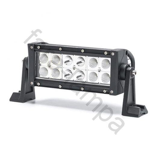 Двухрядная светодиодная LED балка комбинированный свет - 36W Gree